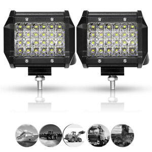 2X 4IN 72W LED Work Light Bar Pods Spot Fog Lamp Driving Offroad ATV UTV SUV 4WD