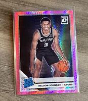 2019-20 Donruss Optic Keldon Johnson Hyper Pink Prizm Rated Rookie RC Spurs I53