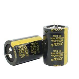 2 pieces JCCON 22000uF50V Audio Electrolytic Power Capacitors.