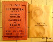 Jurgensen Elgin 21/0s 6246 Replacement Watch Mainspring 641L 6x14 1/2 153x0061/2