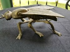 """Vintage Brass Fly Ashtray  Made in Italy  7"""" long"""