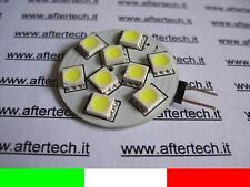 G4 LED LAMPADINA FARETTO 9 SMD5050 BIANCO FREDDO 1.5W DISCO