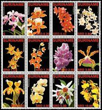 ✔️ SURINAME 2007 - FLORA FLOWERS ORCHIDS - MI. 2090/2101 ** MNH OG