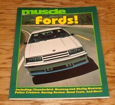 Muscle Fords! Thomas Bonsall Book #4 Mustang Shelby Thunderbird