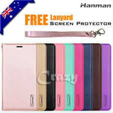 For Samsung Galaxy A8 J8 2018 A5 2017 Case Luxury Wallet Card Leather Flip Cover