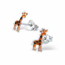 3 Pairs x Children's 925 Sterling Silver Zoo Animal Themed Earring Set-BOXED