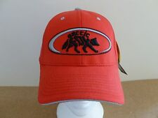 ARCTIC FOX RED FLEXFIT BASEBALL CAP. ONE SIZE M-XL. CURVED PEAK. 6 PANEL