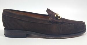 Alden Cape Cod Collection Horse Bit Brown Suede Loafers Size 9.5 C Made In USA