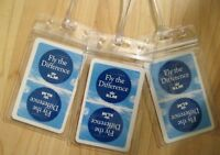 KLM Luggage Tags - Royal Dutch Airlines Amsterdam Netherlands RePurposed Set (3)