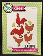 Roosters and Chickens Steel Die for Scrapbooking (Die273Z)