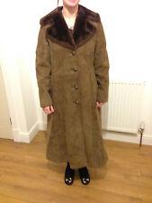 Vintage Ladies British Fur Wool shearling Sheepskin 60s Mod Jacket