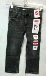 Wrangler Slim Fit Black Jeans w/ Adjust to Fit Waist (Boy's Size 4)