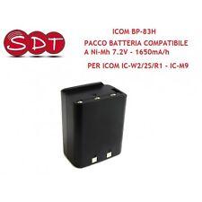 BP-83-H BATTERIA Ni-Mh 7.2V - 1650mA/h PER ICOM IC-W2/2S/R1 - IC-M9