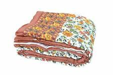 indian 100% pure cotton quilt Razai Hand Block Handmade kantha cotton quilt