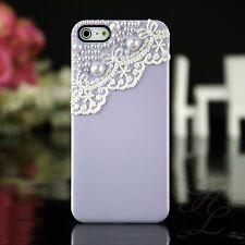 Apple iPhone 5 5s Hard Case Handy Schutz Hülle Tasche Etui Bumper Perlen 3D