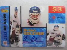 BRIAN BOUCHER Rookies Autogramm Sport Eishockey Limitierte Telefonkarte Sprint
