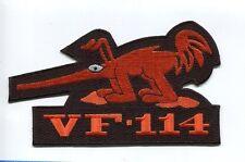 Large VF-114 AARDVARKS US NAVY GRUMMAN F-14 TOMCAT Fighter Squadron Jacket Patch
