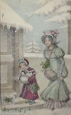 """""""Neujahr, Frauen, Kinder""""1909, M. Munk Vienne Nr.794 ♥ (20841)"""