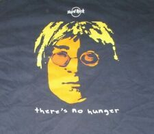 "2009 Hard Rock John Lennon ""Imagine . There's No Hunger"" (Lg) T-Shirt Beatles"