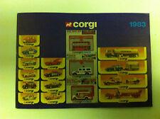 Catalogue Corgi 1983 en Anglais, Français et Allemand (GB - FR - D)