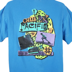 Ocean Pacific OP T Shirt Vintage 90s In Line Skates Skating Made In USA Large