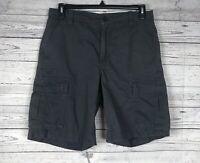 The North Face Men's Dark Gray 100% Cotton Cargo Shorts w/ Drawstring Size 32
