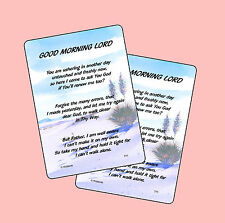 Good Morning Lord - 2 Verse Cards - SKU# 771