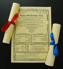 Parchment Scroll 18th 21st 25th 30th 40th 50th 60th 70th 80th 90th Birthday Gift