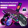 3-In-1 Keyboard Mouse Headset Mechanical Gaming Keyboard Set USB Cable  !! !!