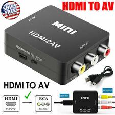 Mini Composite HDMI To AV RCA Audio Video AV CVBS Adapter Converter For TV 1080P