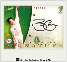 2008-09 Select Cricket Trading Cards Star Signature Card S2 Beau Casson