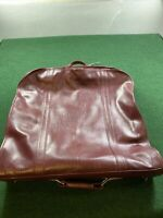 """90s Vintage American Tourister Garment Bag 50"""" Red Faux Leather RARE Clean"""