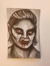 Vampire Lady Ink Drawing 4x6