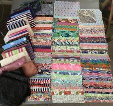 HUGE BUNDLE Fabric Remnants / Squares