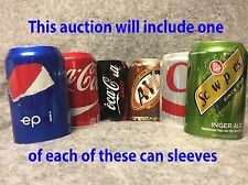 6 PACK HIDE A BEER CAN COVER CLOSED SODA CAMO WRAP SLEEVES DISGUISE GOLF BEACH.