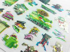 100pcs Zombies vs Plants Stickers kids Notes Diary School Book Scrapbook fun lot