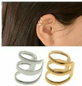 Ear Cuff Wrap Earrings No Piercing Clip On Ear Clips 2 Colors  US SELLER