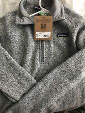 Patagonia Womens Better Sweater 1/4 Zip Birch White Size Small