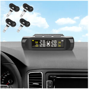Real-time Car TPMS Monitor Low Air Pressure/High Tire Pressure Alarm w/Sensor