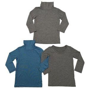 Uniqlo Baby HEATTECH Baselayer Shirt Turtleneck Gray SET OF 3 Size 90 100 3T 4T