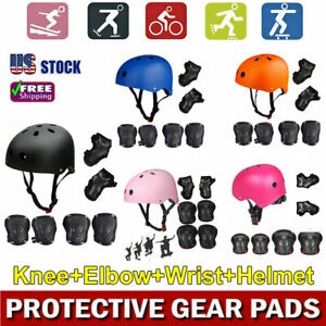 US Women Men Protective Bike Teens Helmet Protect Gear Set Cycling Safety Skate