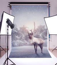 3x5ft Baby Vinyl Photography Background Studio Animal Winter Snow Photo Backdrop