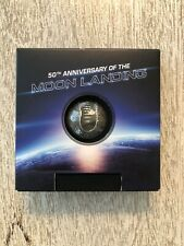 2019 50th ANNIVERSARY OF THE MOON LANDING SPHERICAL SILVER COIN 1 of 1969