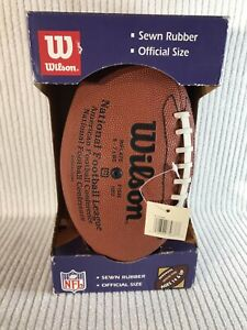 OFFICIAL NFL WILSON FOOTBALL SEWN RUBBER OFFICIAL SIZE NEW IN BOX ORIGINAL F1645