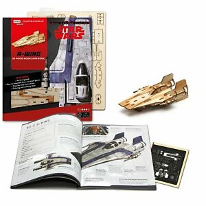 Star Wars 3D Laser Cut Jigsaw Wooden Puzzle A-Wing Fighter Model+ Deluxe Booklet