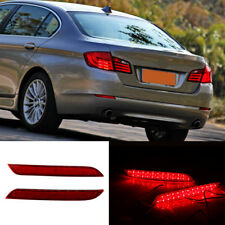 2x LED Rear Bumper Reflector Brake Light For BMW 5 series 2011-2014 F10 F11 F18