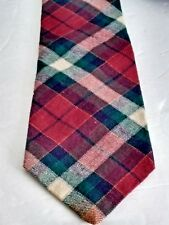"Gant Viyella Red Cream Green Plaid Mens Preppy Wool Blend  Neck Tie 60""x 3.25"""