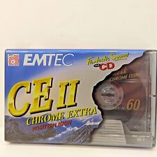 5 EMTEC 60 Minute CEII Chrome Extra, Position High Audio Cassettes New Unopened