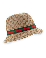 New Listing100% AUTHENTIC NEW GUCCI WOMAN FEDORA CANVAS BEIGE GG CAP HAT SZ  M 352f59564a5e