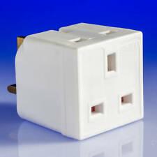 NEW 240V 13A 2 WAY mains socket adaptor multi plug fused adapter, UK SELLER